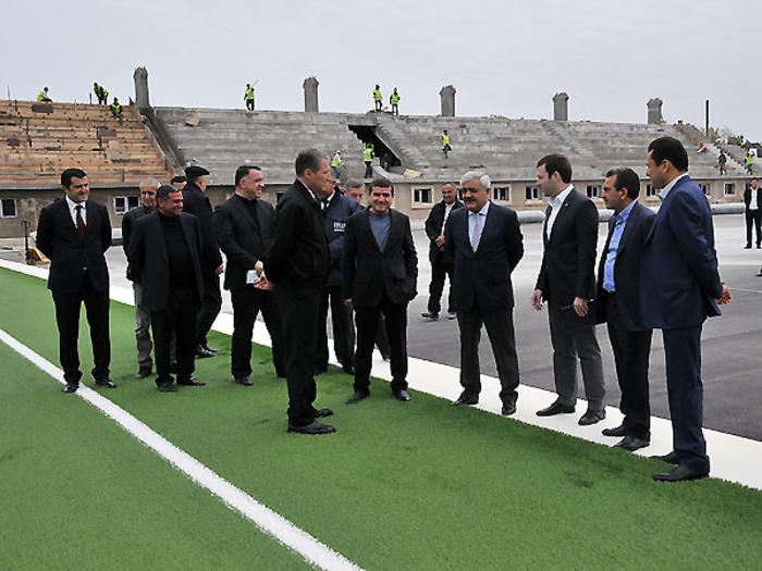 В Сумгайыте строятся современный стадион и спортцентр – ФОТО