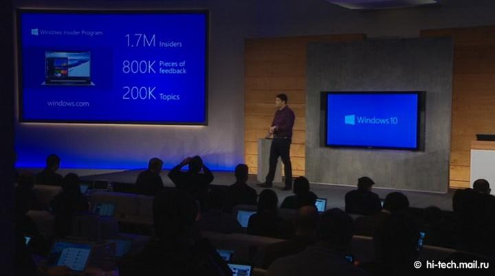 Microsoft показал свой долгожданный Windows 10 - ОБНОВЛЕНО - ФОТО