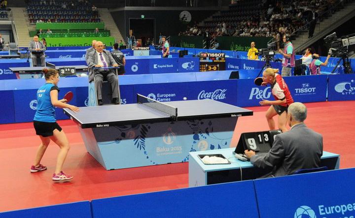 Завершился первый круг одиночных соревнований по настольному теннису - ФОТО