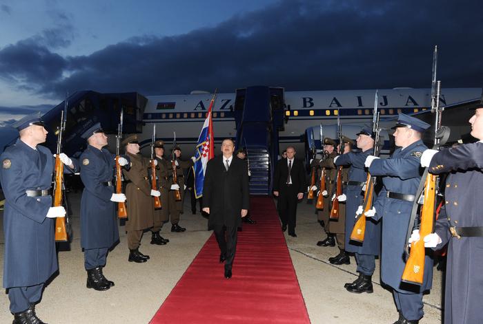В честь Президента Ильхама Алиева был устроен официальный прием от имени Президента Хорватии – ОБНОВЛЕНО - ФОТО