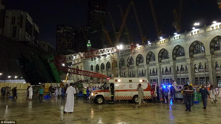 Упавший на мечеть в Мекке кран принадлежит семье бен Ладена - ФОТО - ВИДЕО - ОБНОВЛЕНО