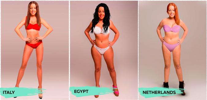 Дизайнеры показали стандарты красоты в разных странах мира - ФОТО