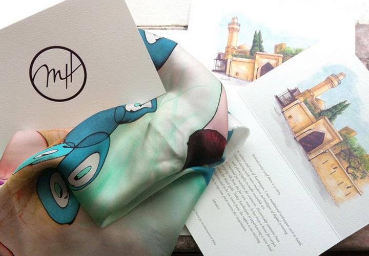 """Примите участие в благотворительном проекте Art Scarves by Menzer Hajiyeva при поддержке Day.Az """"Рука помощи"""" - ФОТО"""