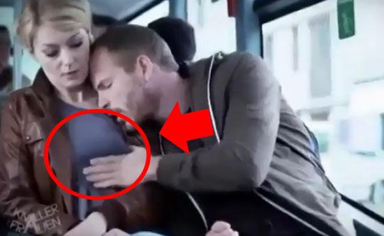 На баб в автобусе